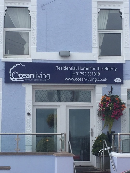 Ocean Living residential care home and assisted living for the elderly in Mumbles, Swansea.